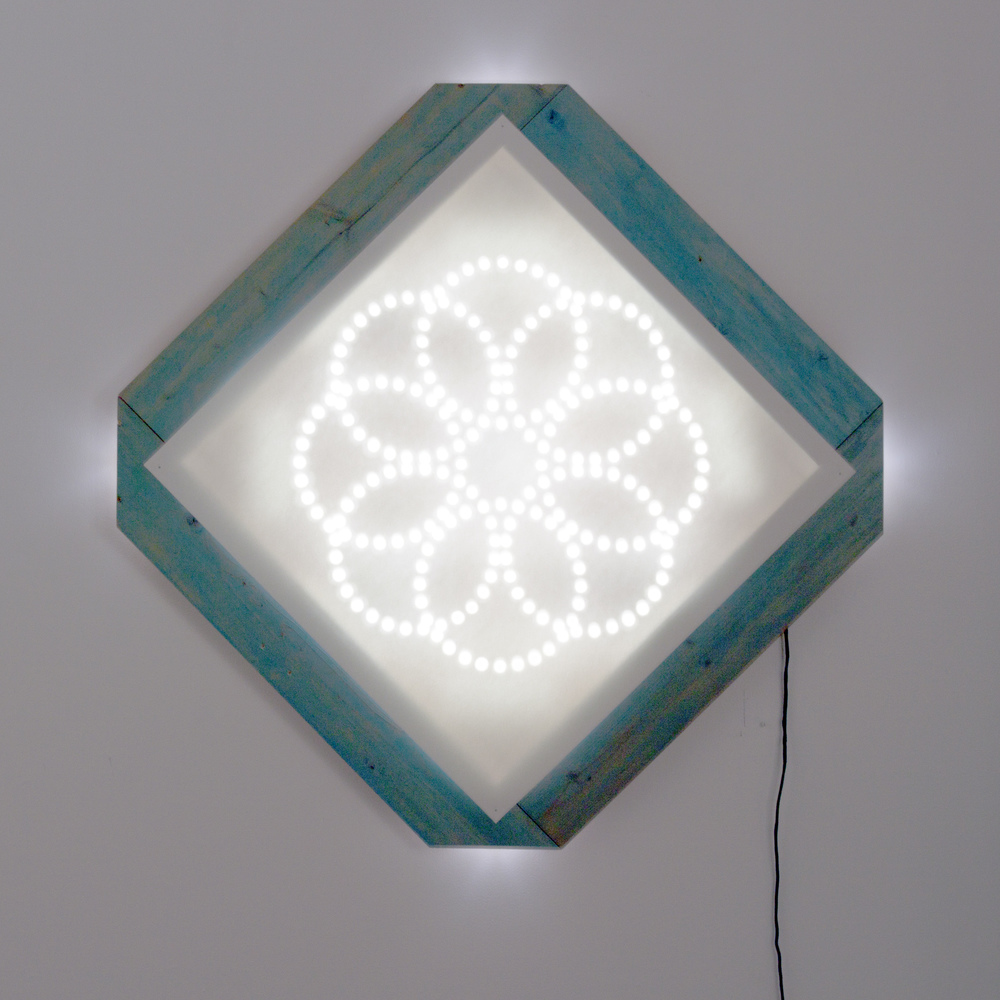 "Bloom 44.5"" x 44"" Light Sculpture $2,000"