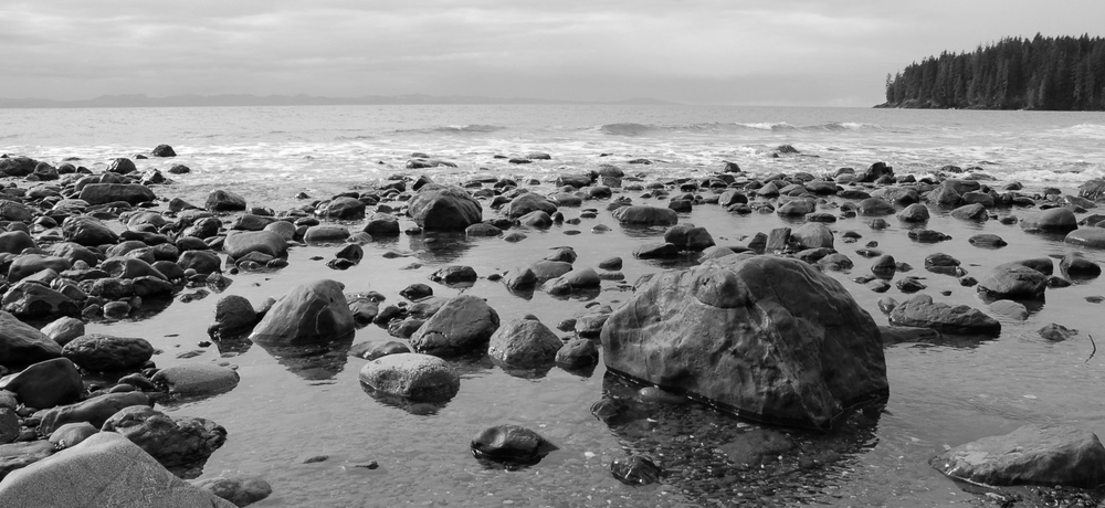 China Beach Seascape/Landscape Black and White