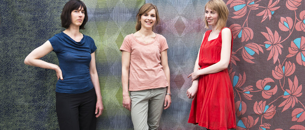 Designer de l'atelier NoMoreTwist, de gauche à droite: Michèle Populer, Anne de Prémare, Marie Beguin.  Designers of NoMoreTwist, from left to right: Michèle Populer, Anne de Prémare, Marie Beguin. photo©Elodie Timmermans