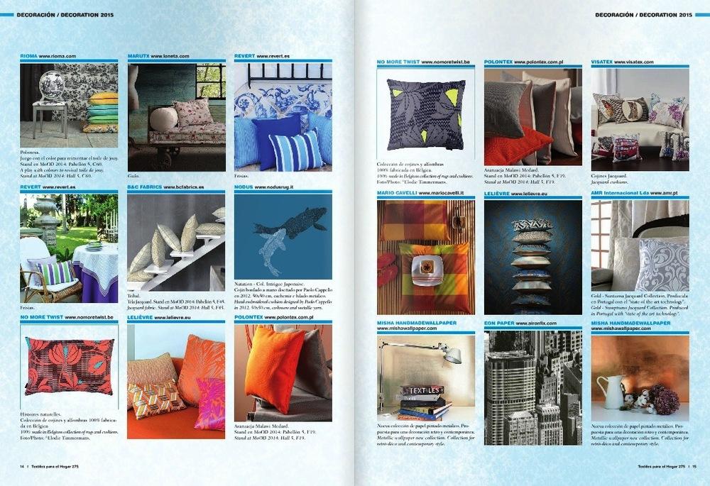 Textiles para el Hogar nº275 septembre 2014