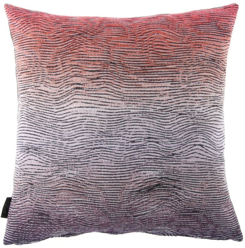 Lazure/orange - cushion  46 x 46 cm front side: 95% wool 5% silk back side: dark grey linen 100%