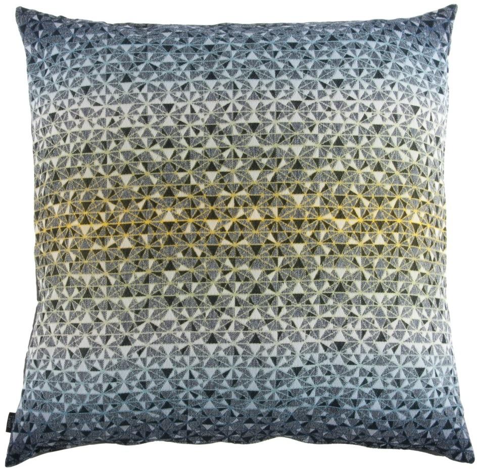 cosmogony//green shades - cushion90 x 90 cm  front side: 95% wool 5% silk  back side: dark grey coton 80% polyester 20%