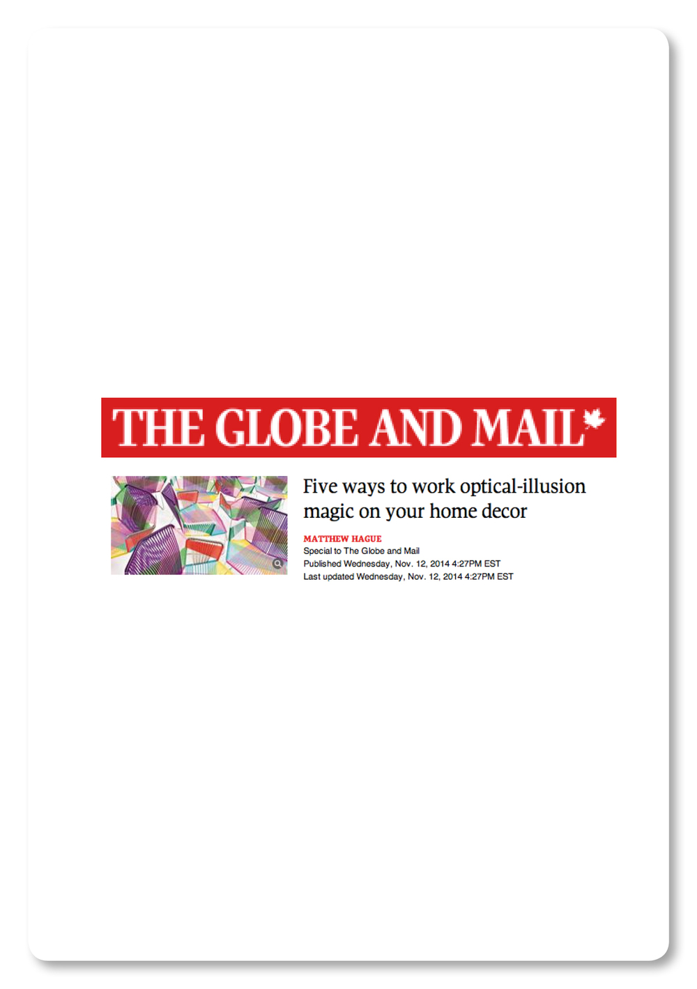 The globe and mail 11/2014