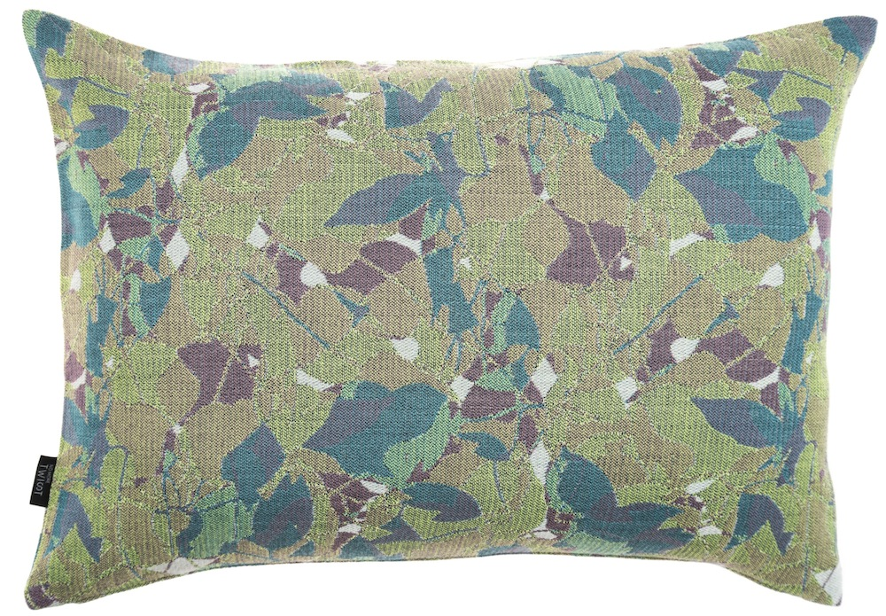 Feuillage/green - cushion M ≅ 46 x 69 cm  Composition: jacquard woven fabric 94% wool 6% silk