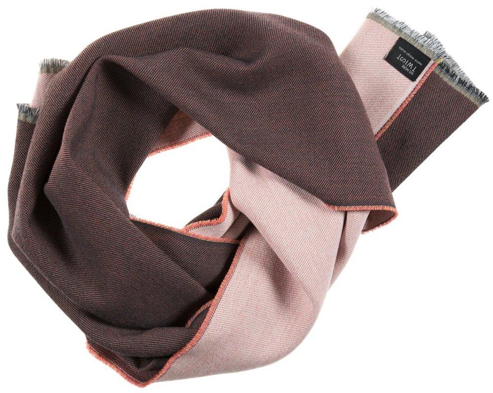 Diffraction/orange - Scarf ≅ 47 x 181 cm Composition: jacquard woven fabric 95% wool, 5% silk