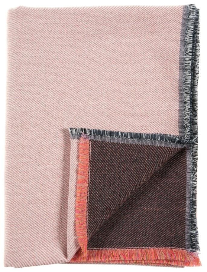 Diffraction/orange - Throw ≅ 142 x 110 cm  Composition: jacquard woven fabric 95% wool, 5% silk