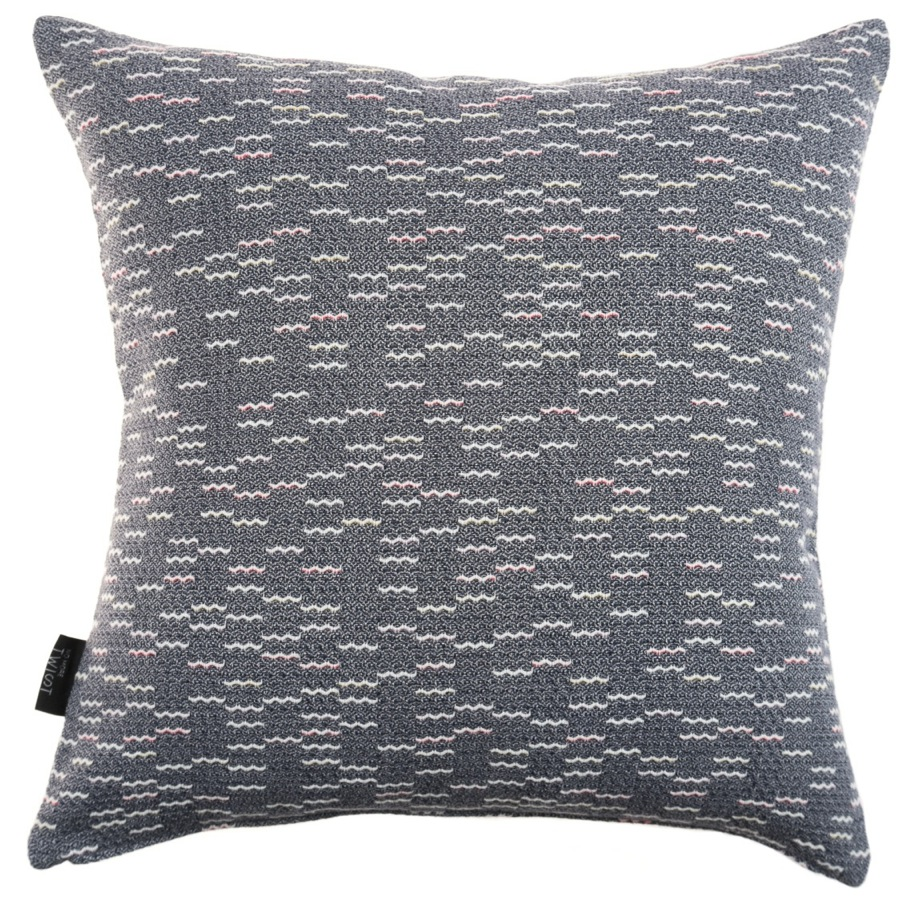 Clapotis/blue - cushion S ≅ 44 x 44 cm   Composition: jacquard woven fabric  75% wool 20% viscose 5% silk