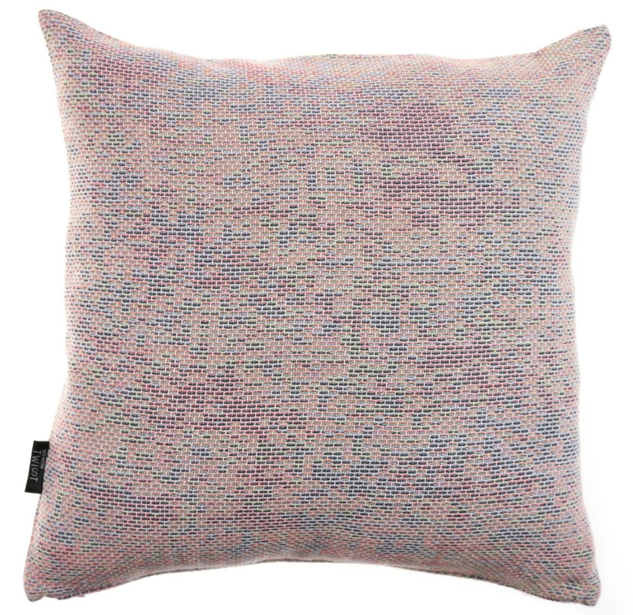 Reflet/ pastel orange - cushion S ≅ 44 x 44 cm  Composition: woven jacquard 78% wool 16% viscose 6% silk