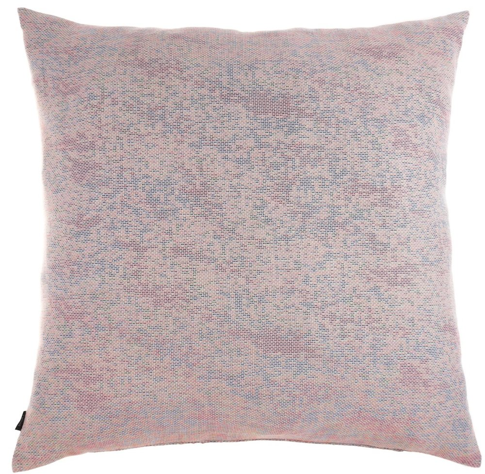 Reflet/ pastel orange - floor cushion XL ≅ 90 x 90 cm  Composition frontside: jacquard woven fabric 78% wool 16% viscose 6% silk Composition backside: plain weave grey fabric, 80% cotton, 20% polyester