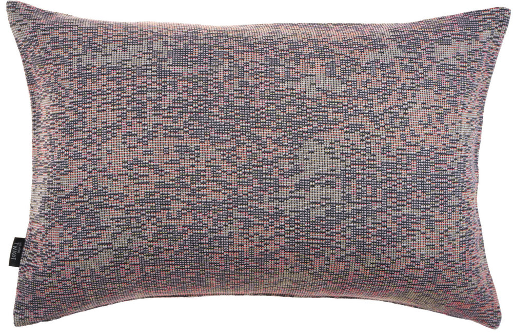 Reflet/ dark orange- cushion M ≅ 44 x 69 cm  Composition: woven jacquard 78% wool 16% viscose 6% silk