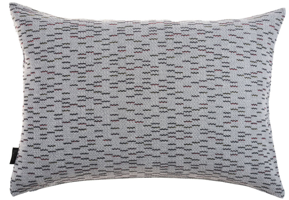 Clapotis/grey - cushion M ≅ 44 x 69 cm   Composition: jacquard woven fabric  75% wool 20% viscose 5% silk