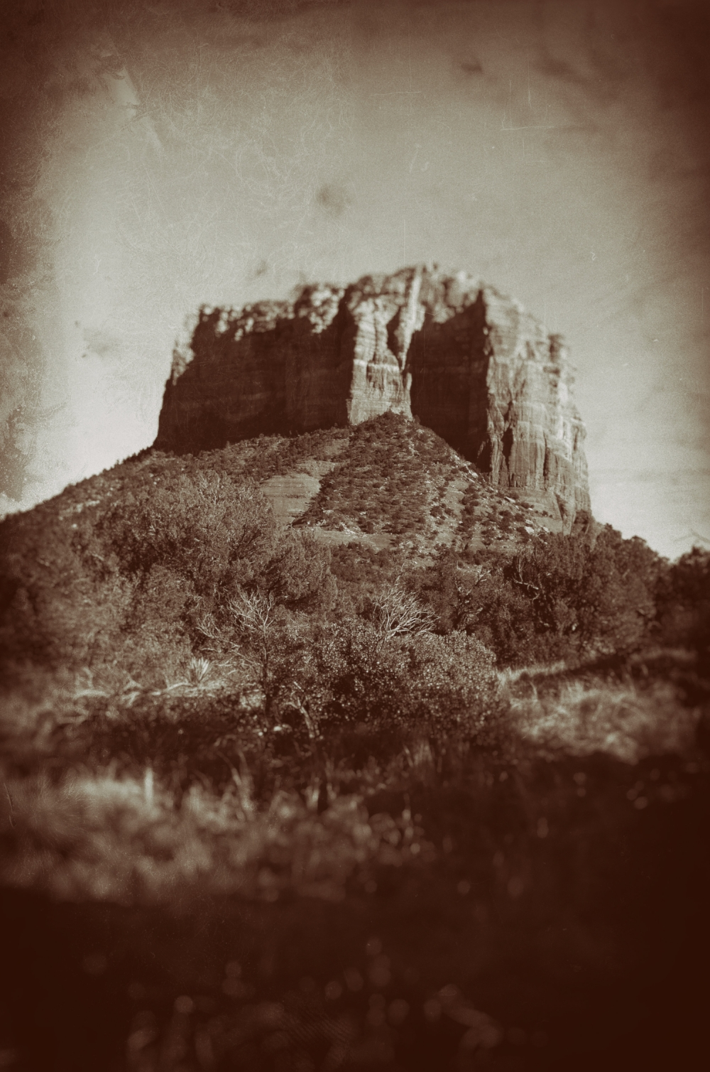Fun with filters and Courthouse butte.