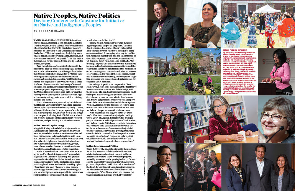 This issue featured a multi-page special section (above and below) covering a series of events and initiatives around native and indigenous peoples.