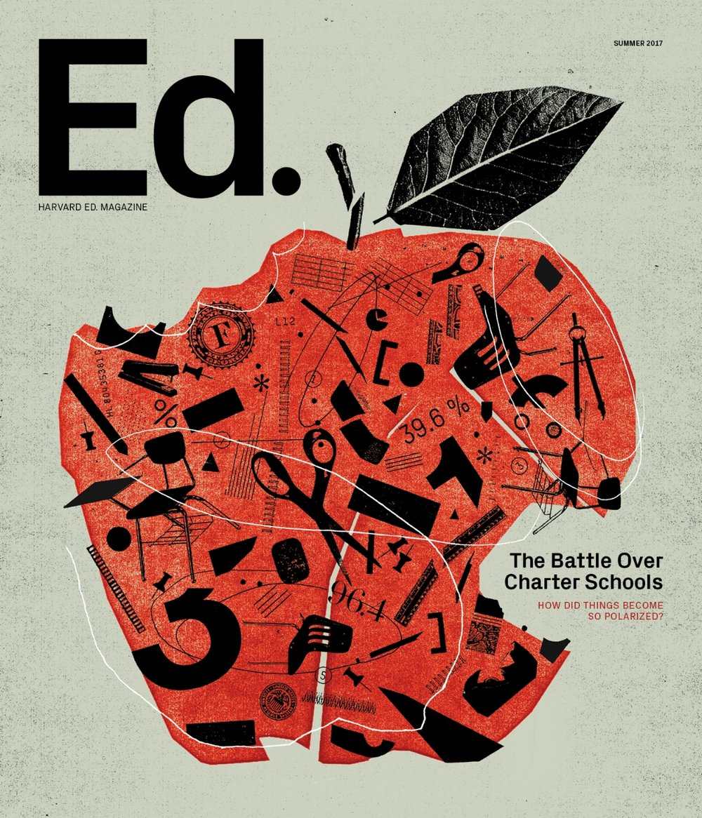 The cover of the Summer 2017 issue of Harvard Ed. (Illustration by Mike McQuade)