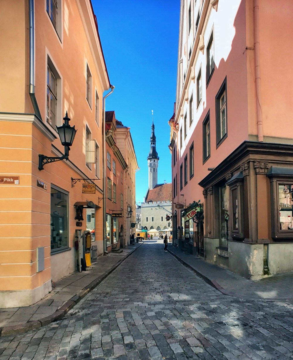 Pikk Tanev (Long Street) in Old Town Tallinn