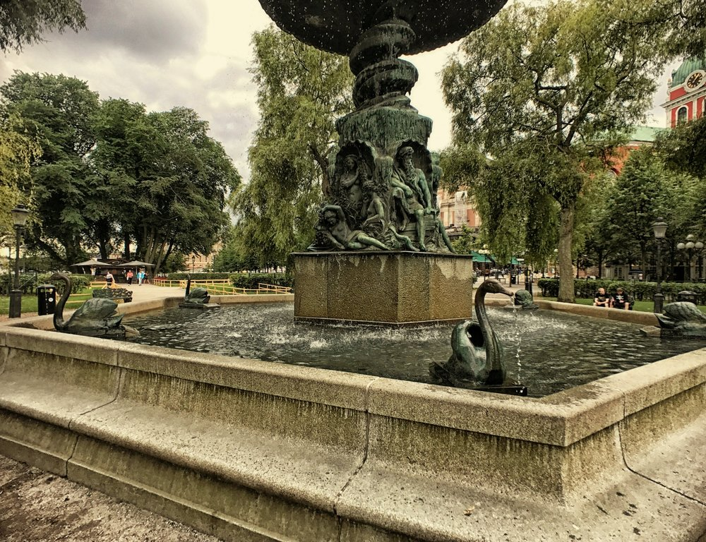 Molins fontän in Kungsträdgården(King's Garden)