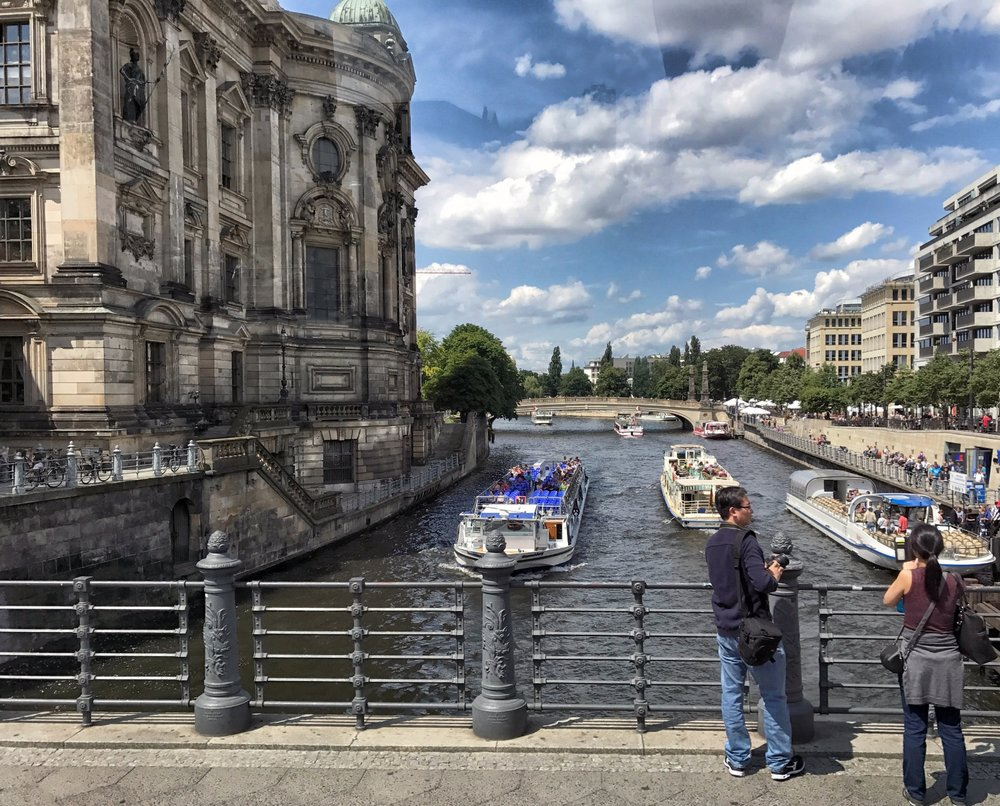 The Berlin Cathedral (Berliner Dom) on the Spree River in the Mitte neighborhood
