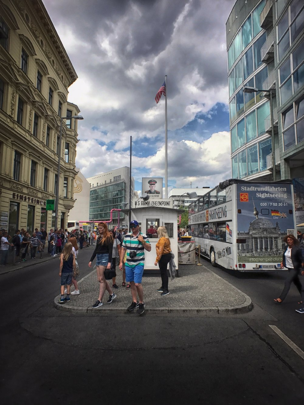 Another view of Checkpoint Charlie