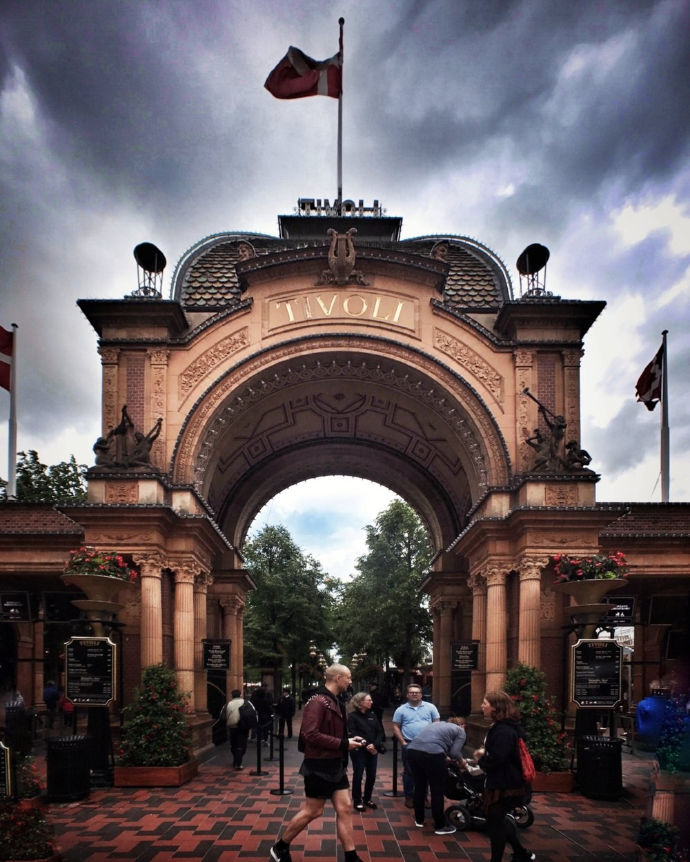 The entrance to Tivoli Gardens