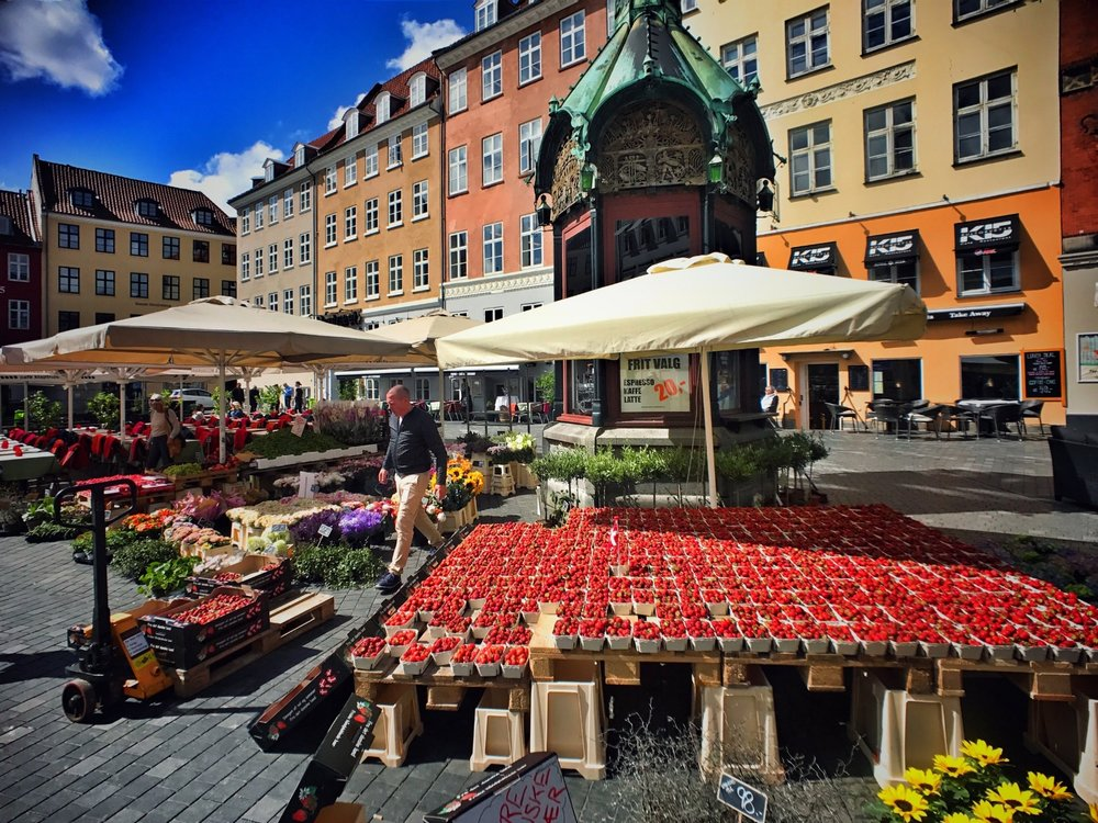 Fresh produce at Gammeltorv (Old Market), the oldest square in Copenhagen.