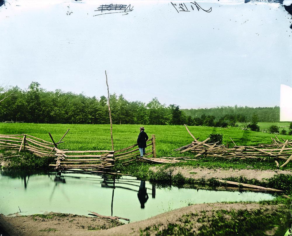 Photographic pioneer Mathew Brady surveys the Gettysburg battlefield. (Library of Congress)