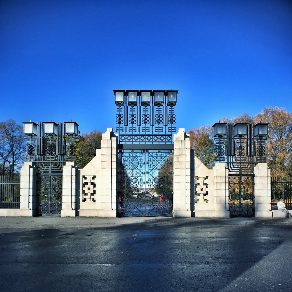 Gates to Frogner Park and Vigeland