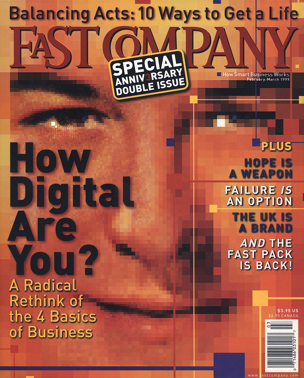 The February 1999 cover of Fast Company featured an illustration by John Craig.