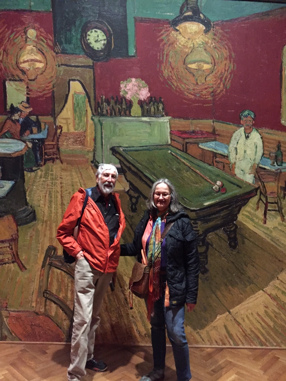 "Larry and Laverne at Van Gogh's ""NIght Cafe"""