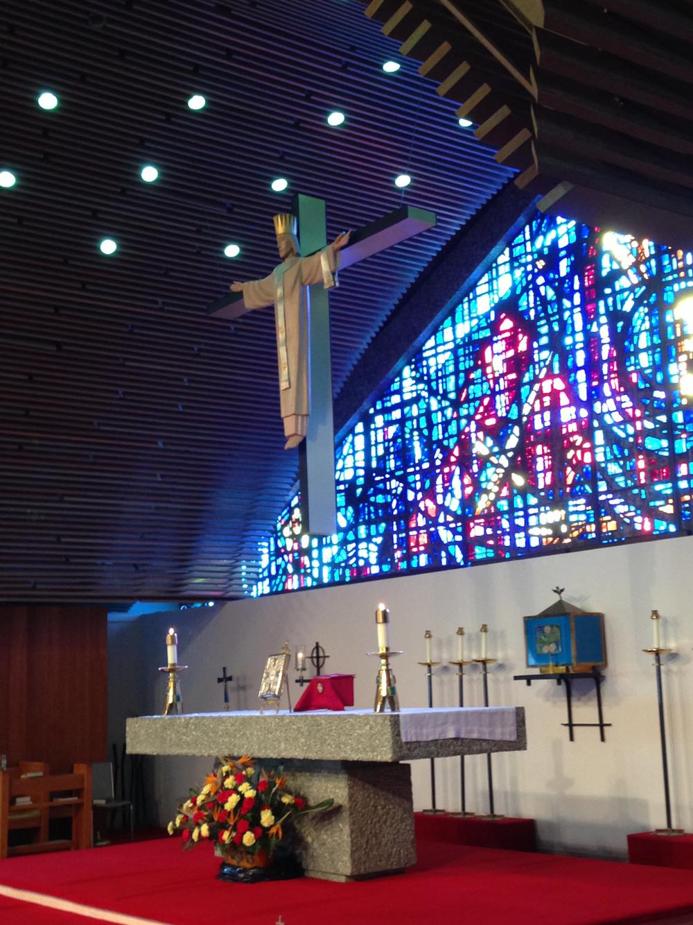 The Altar area.