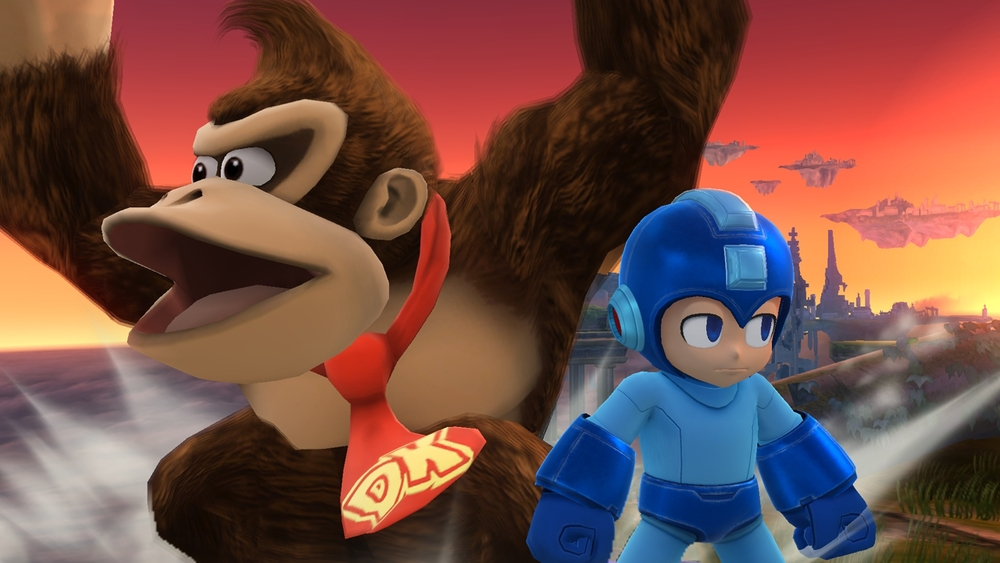 Wherein Megaman is Sakurai, and DK is the fans.