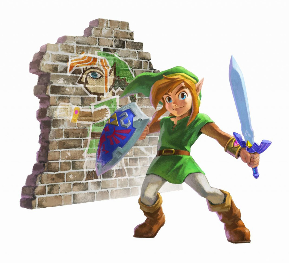 You know, I've never actually seen Link and Wall painting Link in the same place at the same time....