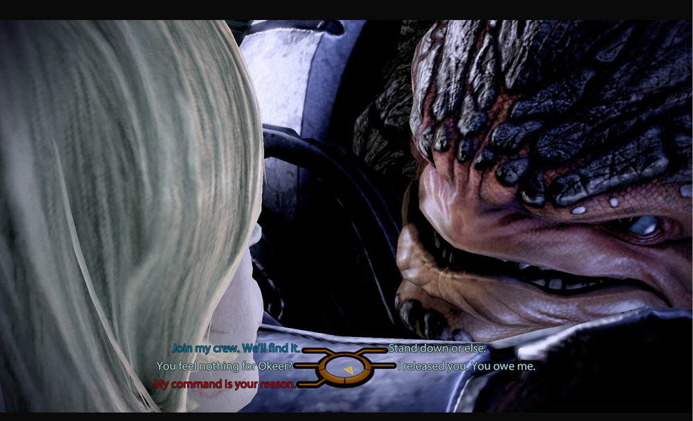 Krogan breath smells like turtle soup and vomit.