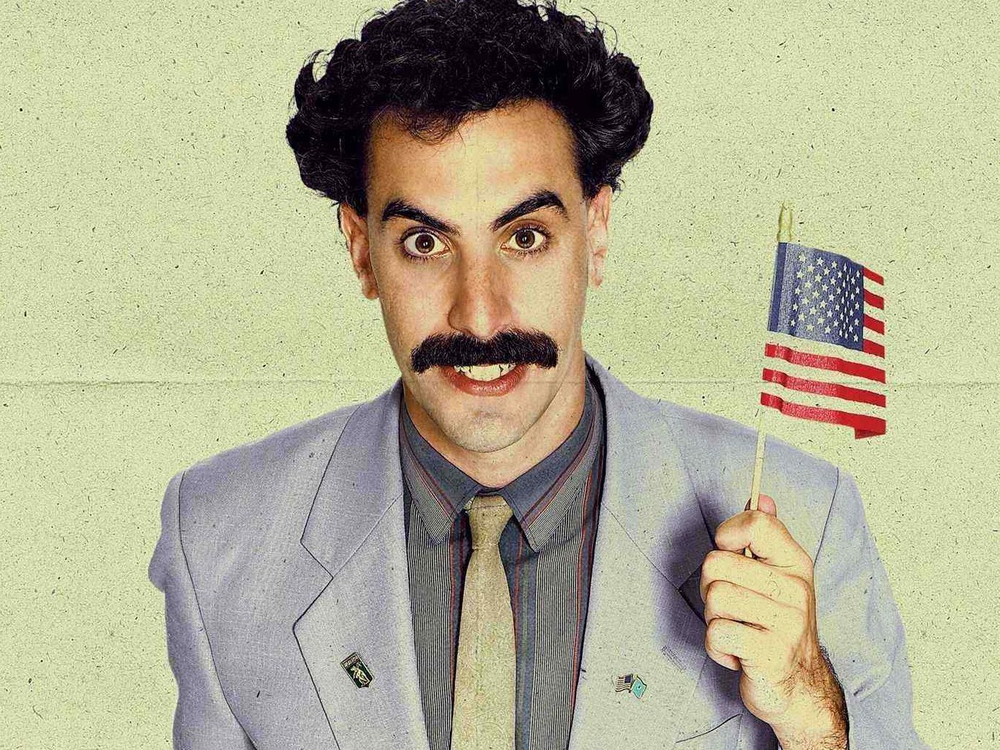 Every promotional image of Borat involves that green swimsuit, and I just don't want to put you through that.