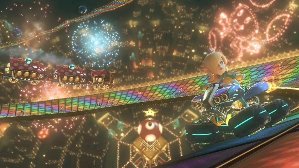 It's called a road, it's called the Rainbow Road....