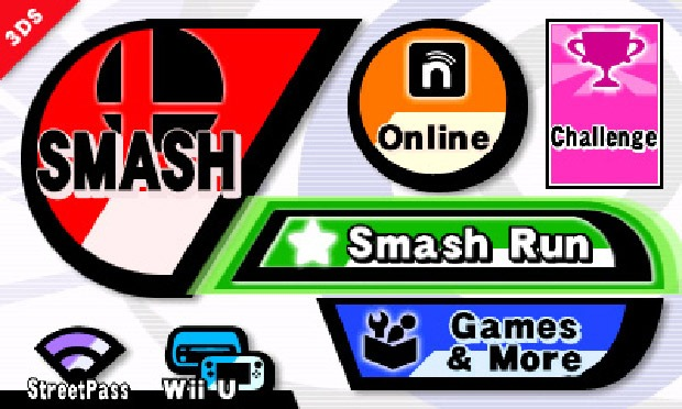 Smash Bros. 3DS Menu