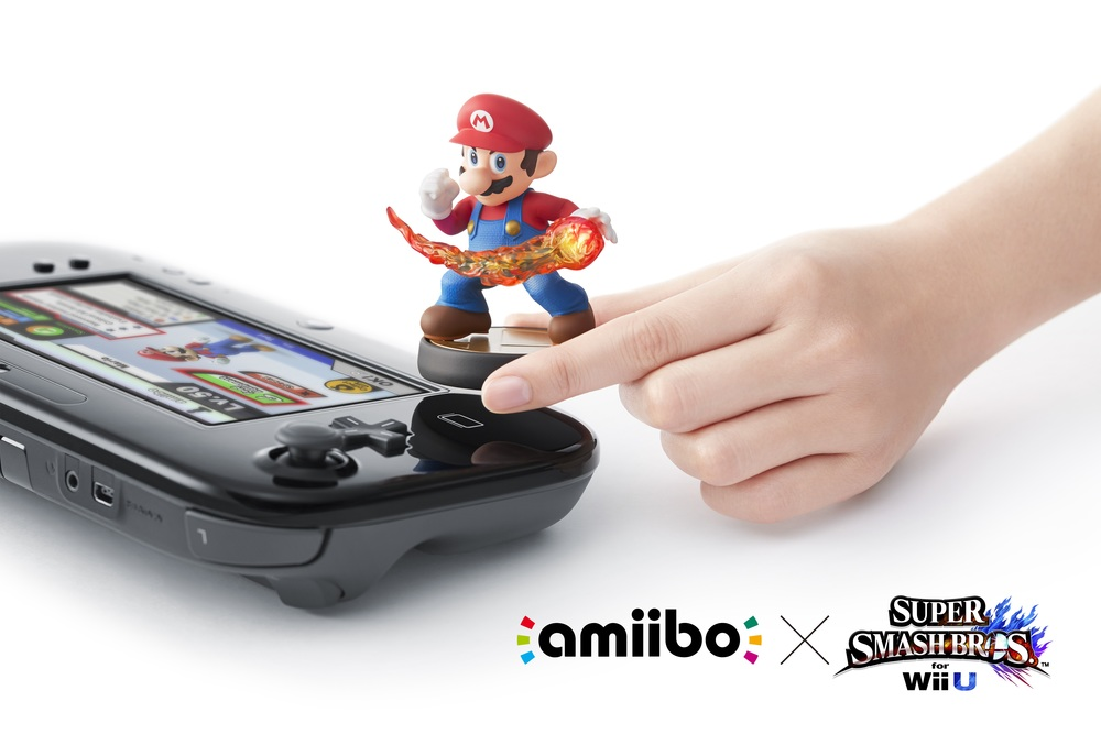 The Wii U's gamepad has a built-in NFC reader for your amiibo, while the 3DS will be getting a peripheral was haven't seen since it was announced at E3.