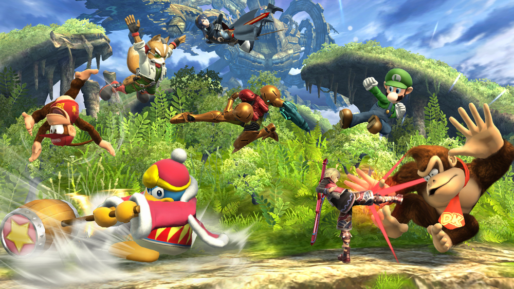 Eight player matches get a little wild, but rest assured, Lucina and Samus rarely do perfectly choreographed jumps.