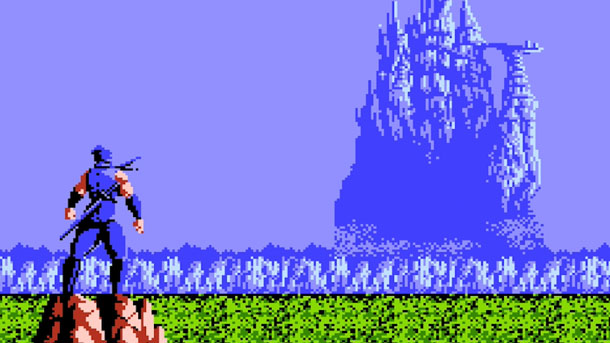 "This is the last scene of a game called ""Ninja Gaiden: Find the Castle and Stop Playing"""