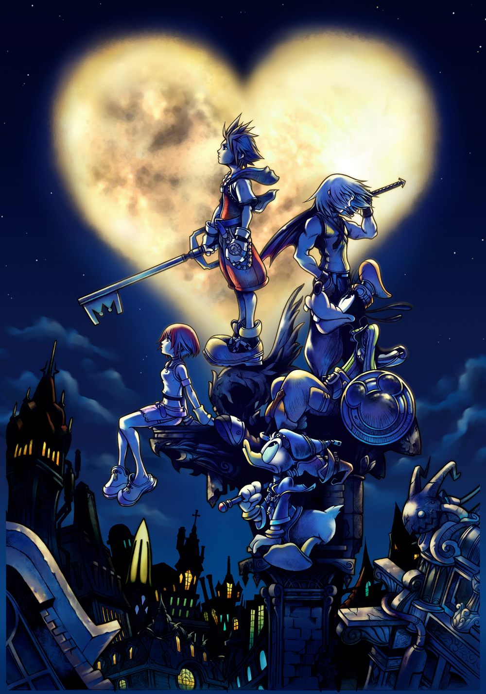 I will complain about how terrible Kingdom Hearts is to the end of time, and I'll STILL think this is a really cool poster. Damn you Nomura.