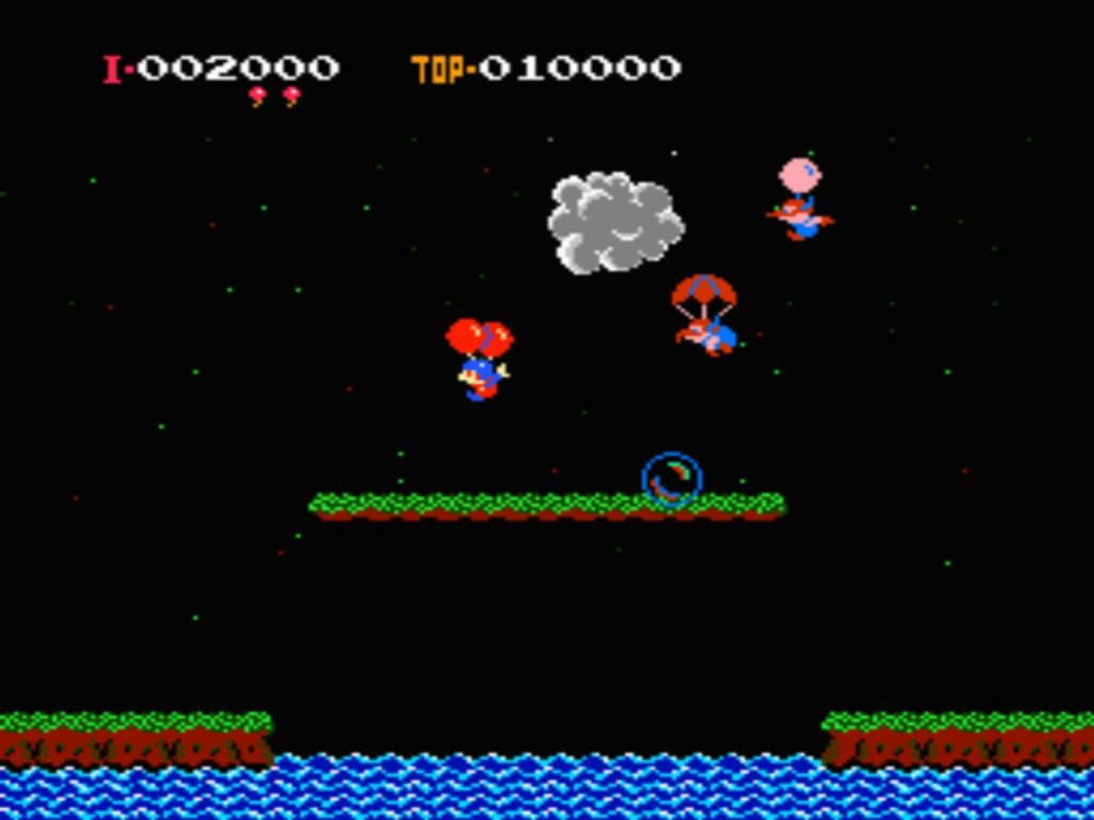 Balloon Fight was the first game Iwata worked on at Nintendo. Its' B-Mode is the design origin of dozens of endless runners, and it's also a playable stage in Super Smash Bros. for 3DS.