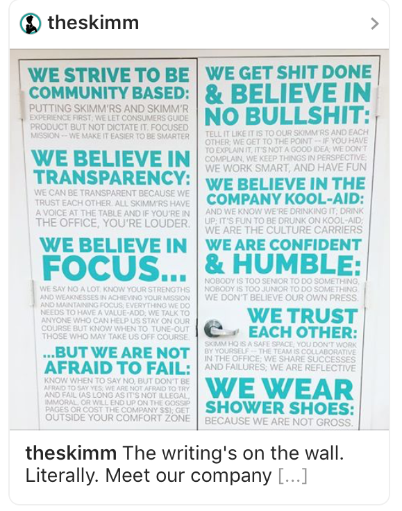 TheSkimm Culture Code