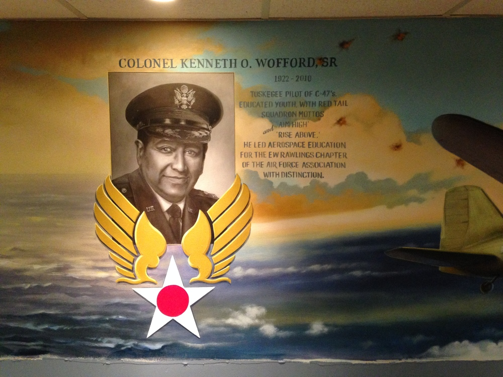 The AFA chose to memorialize Col. Ken Wofford, a Tuskegee Airman and member of the Rawlings AFA.