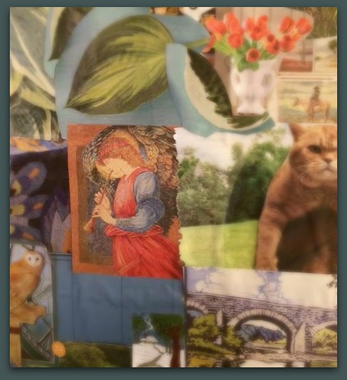 A vignette from the vision board I created last year...