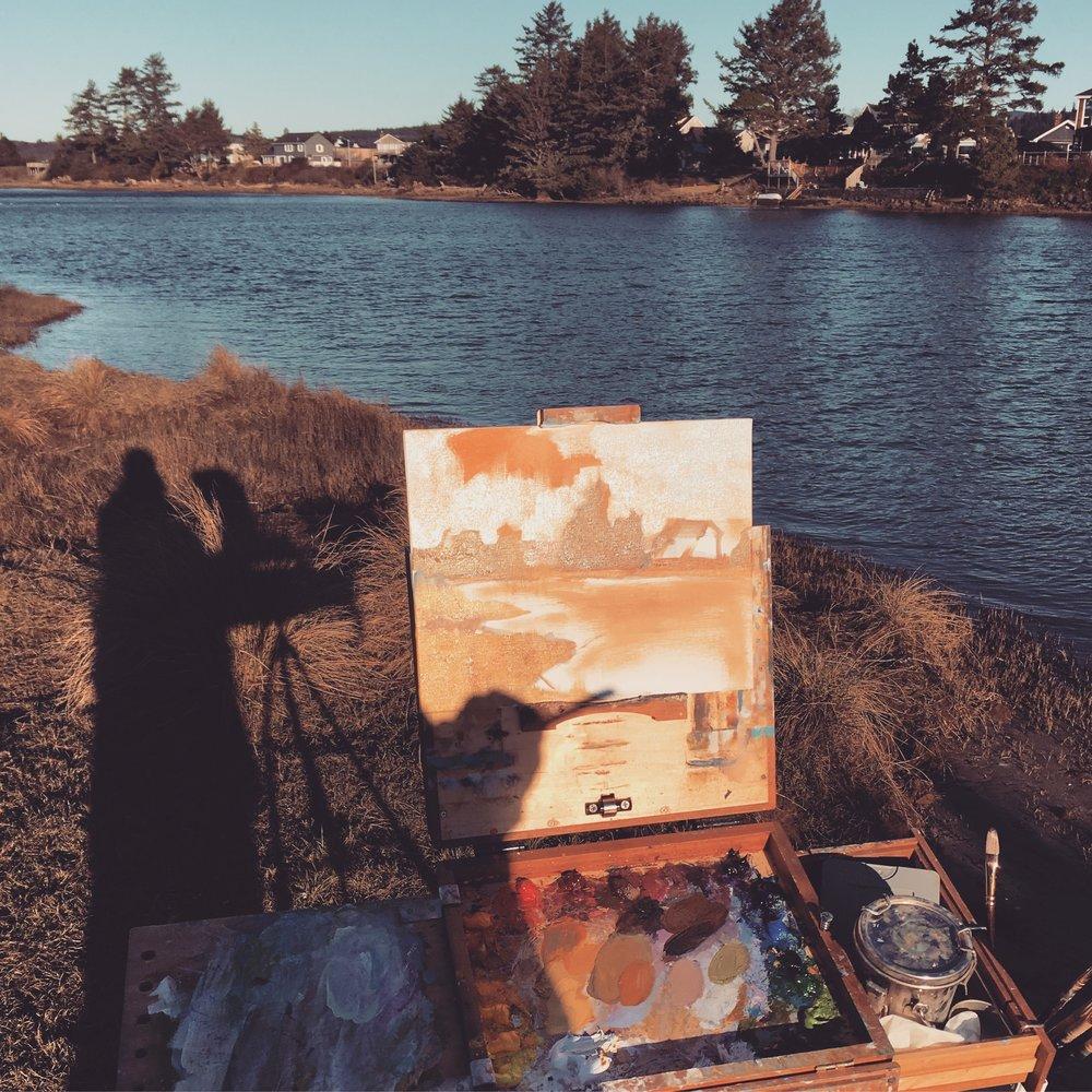 Painting in Seaside, OR