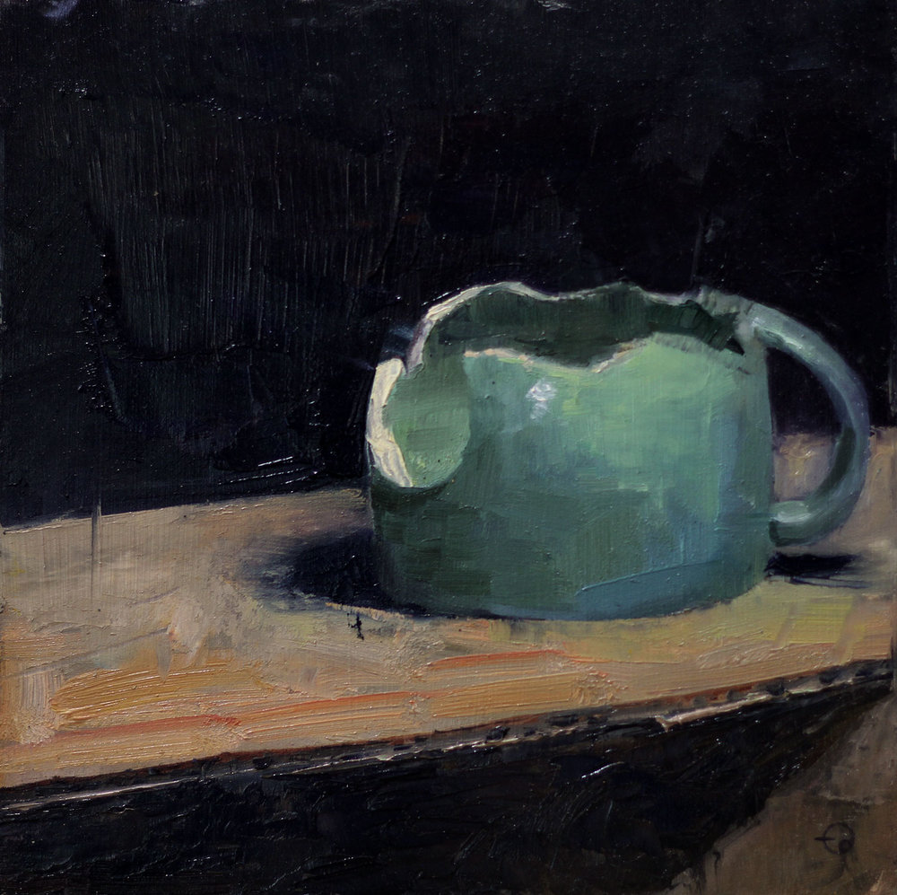 Broken Teal Cup