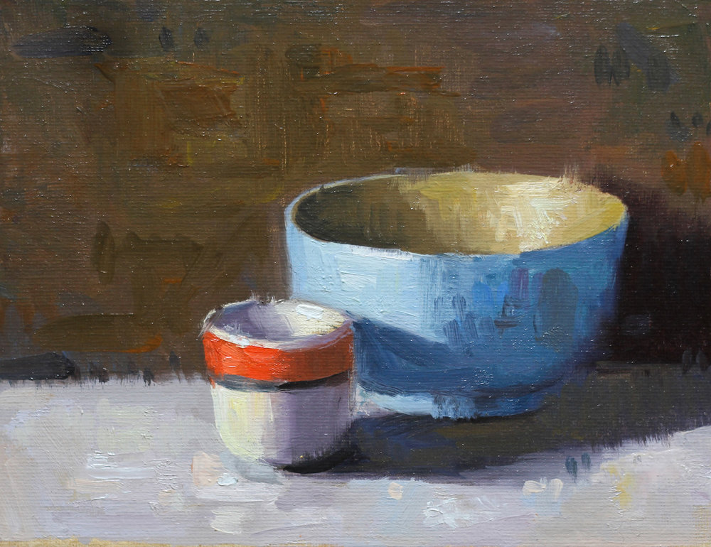 Blue Bowl And Egg Cup