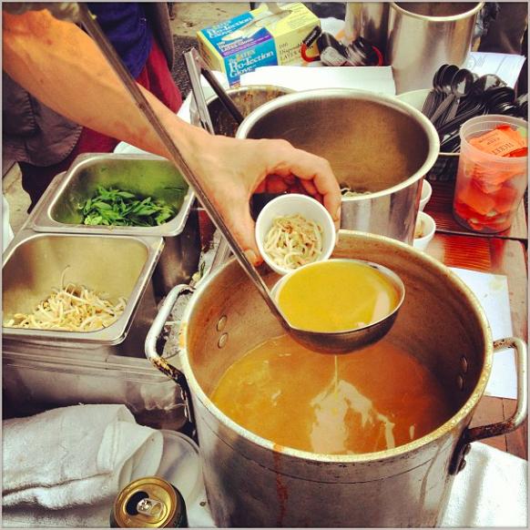 A kind soul serving last years lamb based ramen soup form Dassara!