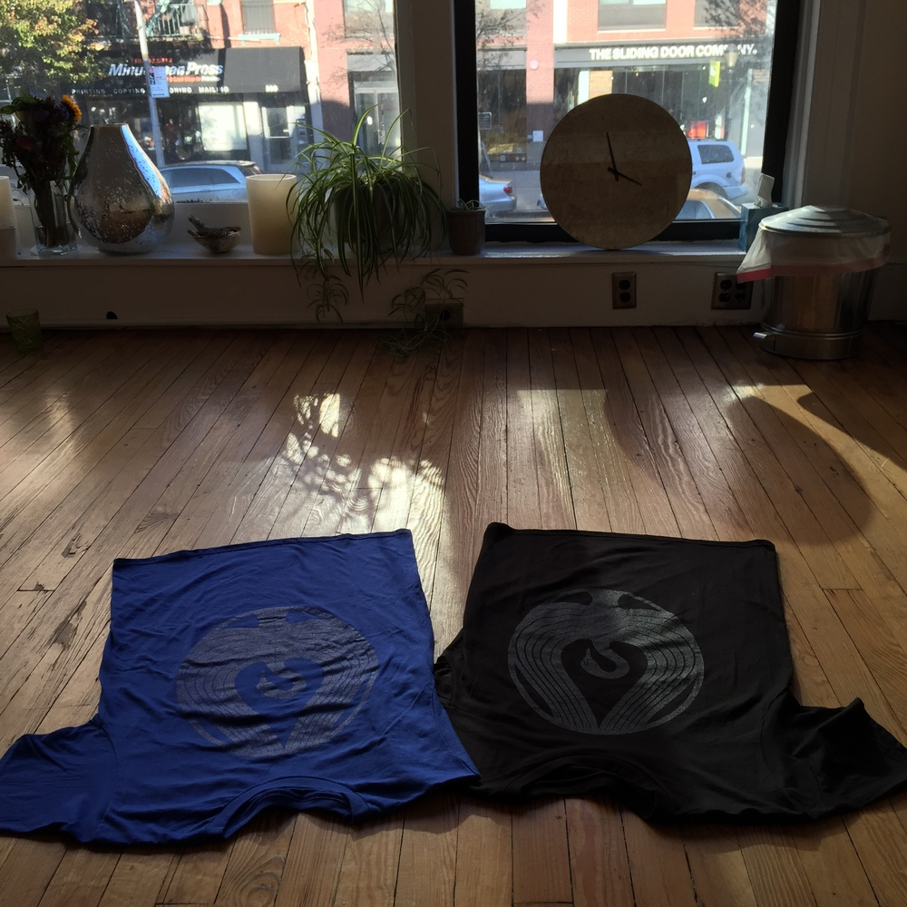 This is what it feels like to take mat class at The Swan Brooklyn! Blue and Black T's are $20.