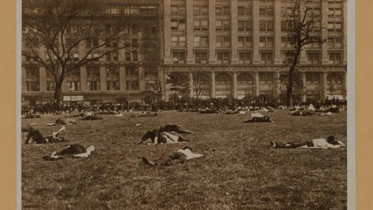 Bryant Park, 1925. Photo courtesy of the NYPL archives