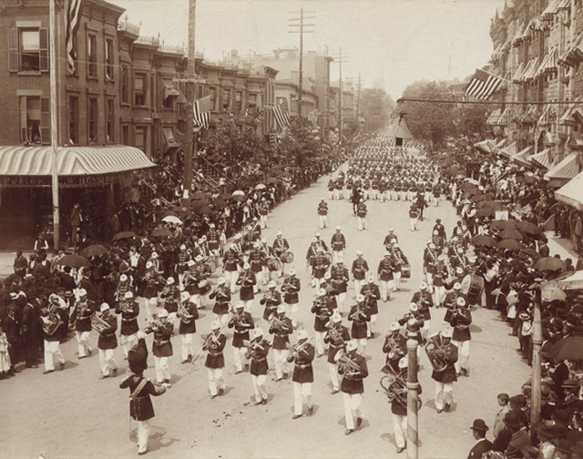 Memorial Day parade in Brooklyn, 1895! (Image from untapped cities.com)